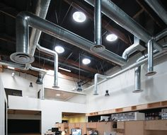 See how Solatube Daylighting Systems and Smart LED lighting systems can improve commercial daylighting projects using natural lighting design. Lighting System, Lighting Design, Track Lighting, Open Ceiling, Ceiling Lights, Healthy Mind And Body, Corporate Interiors, Commercial Design, Natural Light