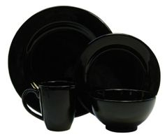 $119.00 (for 8 settings $238.00) Waechtersbach Fun Factory II Black 16-Piece Dinnerware Set, Service for 4 : Amazon.com : Kitchen & Dining