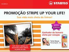 A Terlei Neves, de Florianópolis (SC), pediu muiiitos votos durante a semana e, por isso, ganhou o tão sonhado estojo STABILO. *-----*