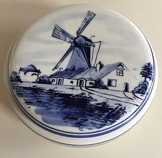 Art Pottery Pottery & Glass Porceleyne Fles Delft Tile Veere Cool In Summer And Warm In Winter