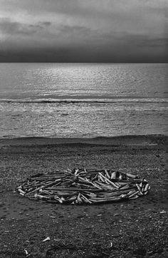 Richard Long. Circle in Alaska. Bering Strait driftwood on the arctic circle, 1977