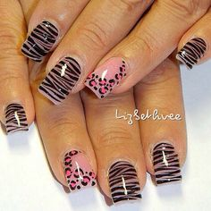 cute but to much animal print for me maybe, 1 or 2 nails with the design and then the rest a solid color.