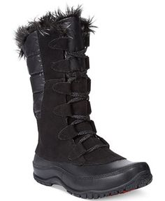 I kinda like this style of The North Face Women's Nuptse Purna Faux-Fur Boots. But I want the tan color.