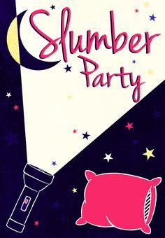 free printable slumber party invitation party ideas pinterest