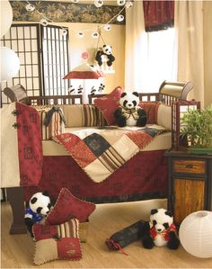 sticky rice nursery bedding by glenna jean, if I ever have a baby, it's having a panda theme