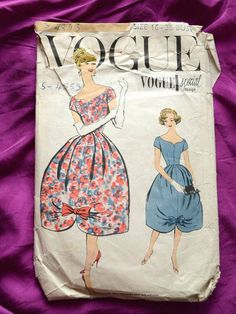 Vogue dress pattern Special Design 4853 Bust 36 inches by Tigrisa