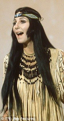 Cher in her first 'Indian' phase in the 60s..she is Armenian not Native American..random info:)