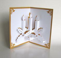 VELAS de Navidad 3D PopUp Greeting Card casa por BoldFolds en Etsy