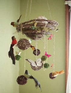 Nesting on a budget? Save money by DIY-ing one of these sweet mobiles for baby's nursery. Tell us, did you make your own mobile for baby's nursery? How did it turn out? Plus, more from The Bump: Re. Diy Room Decor, Nursery Decor, Bird Theme Nursery, Baby Decor, Nursery Ideas, Woodland Themed Nursery, Nature Themed Nursery, Woodland Room, Whimsical Nursery