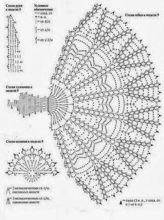 crinoline lady a crochet Filet Crochet Charts, Crochet Motifs, Crochet Diagram, Thread Crochet, Crochet Crafts, Crochet Stitches, Crochet Patterns, Crochet Dollies, Crochet Doll Dress