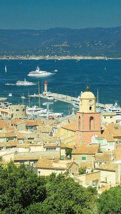 A view to the sea in St Tropez, France