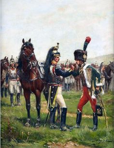 French Cuirassiers and Guard Chasseur a Cheval