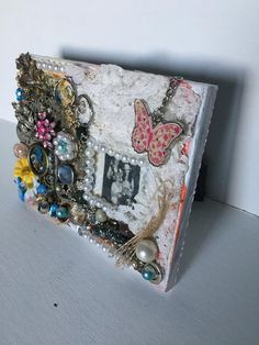 Mixed Media Photo Frame #IrishPhotoFrame #UniquePhotoFrame #HandMadeFrame #XmasGift #PhotoFrame #MixedMediaPhoto #IrishGift #MixedMedia #JewelledPhotoFrame #ChristmasGift