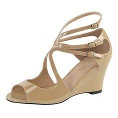 Sandalette Kimberly-04 Elfenbein, EU 45 - Sandalen für frauen (*Partner-Link)