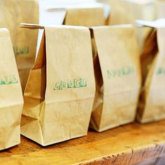 Customize each campers' favor by stamping their names onto classic camp lunch bags.
