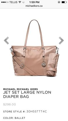MICHAEL Michael Kors Jet Set Diaper Bag - Handbags \u0026 Accessories - Macy\u0027s |  Babies Babies Babies! | Pinterest | Diaper bag, Diapers and Babies