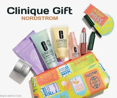 A free 8-piece Clinique gift at Nordstrom (online and in U.S. stores) yours free with any $35 Clinique purchase. Spend $75 and add more gifts.