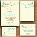Etsy Thursday: Inspiration for Butterfly Themed Wedding--Invitation Suite (www.3d-memoirs.com)