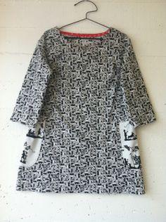 dress 92 materials: cotton print pattern: dress no. 2 made for Kristin