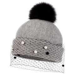 997dfeb46ef Helene Berman Genuine Fox Fur Pompom Hat available at