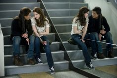 Kristen Stewart and Taylor Lautner in The Twilight Saga: New Moon (2009)