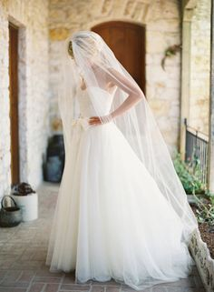 beautiful dress and veil