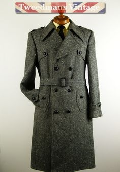 Double breasted Harris Tweed overcoat | Epic Coats | Pinterest