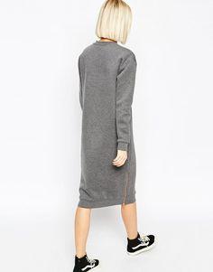 ASOS White | ASOS WHITE Sweater Dress With Zip Details at ASOS