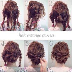 Coiffures simples et rapides pour les cheveux mi-longs : photos de tutos simples