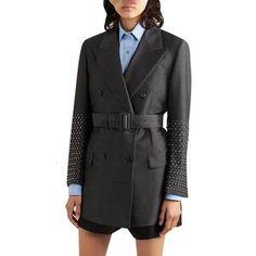 Women Elegant Patchwork Rivet Women's Blazer Long Sleeve Notched With Sashes Pocket Female Fashion Blazer Blazers For Women, Suits For Women, Clothes For Women, Women Blazer, Hot Shorts, Blazer Fashion, Blazer Jacket, Work Wear
