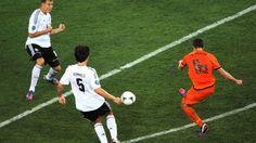 Robin Van Persie (Netherlands) - 1st Goal - Netherlands 1-2 Germany - Group B Knockout