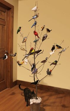 Free felt patterns - A Collection of Felt Bird Ornaments These are quite life-like in colors and poses.