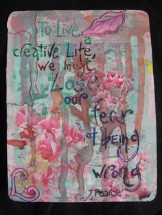 To Live a Creative Life...    http://secure.blomming.com/mm/cecrisi/items shop blomming http://cecrisicecrisi.blogspot.it/   #mixed media, #art journal #cards #biglietti in stile mixed media