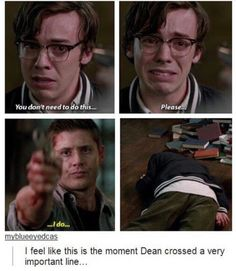 At which point, we all realized just how much of a hold the Mark had on Dean
