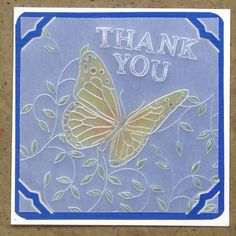 Butterfly and Sprig Groovi card created by Linda Batley