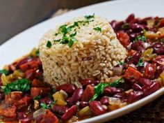 Mardi Gras Dishes: Cajun Red Beans and Rice Cajun Recipes, Rice Recipes, Great Recipes, Cooking Recipes, Favorite Recipes, Healthy Recipes, Amazing Recipes, Cajun Dishes, Rice Dishes