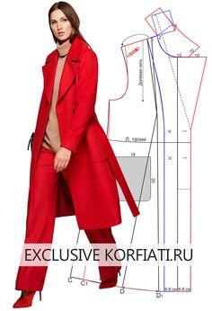 Вам понравится идея сшить красное пальто с большим воротником длины миди и с накладными карманами. Строгие линии, лаконичный крой и ни одной лишней детали.
