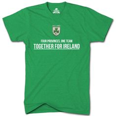 Ireland Rugby Tshirt TryBull FOUR PROVINCES ONE TEAM Mens 6 Nations T Shirt TR1