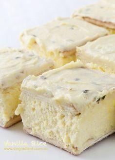 Easy Everyday Vanilla Slice - 4 Ingredients. Saved from 4ingredients.com - Wendy Schultz - Slice.
