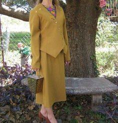 Vintage Suit Skirt Jacket  60s Mad Men  Asymmetric by WeeBitUsed, $79.00
