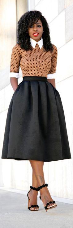 Button Down Shirt + Midi Dress + Full Midi Skirt / Fashion By Style Pantry