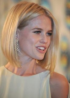 blunt angled bob without bangs - Google Search