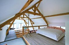 loft bedroom. Awesome. Having a loft bed has always been a dream of mine.