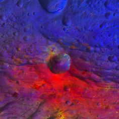 False Color of Oppia Crater, Vesta  The Dawn mission to Vesta and Ceres is managed by NASA's Jet Propulsion Laboratory