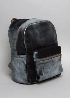 Grey Velvet Backpack   NYLON SHOP