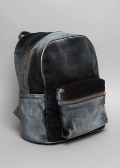 Grey Velvet Backpack | NYLON SHOP