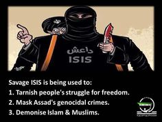 Don't be tricked into supporting ISIS by the hypocrisy of those who focus on ISIS and ignore Assad's genocide. #Syria