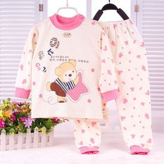 underwear clip on sale at reasonable prices, buy 2015 New Infant Girl Clothes Boys & Girls Sleep Coats Set Baby Girl Cute Pajamas Suit Newborn Baby Girl Soft Cotton Underwear from mobile site on Aliexpress Now! Pyjamas, Baby Boy Pajamas, Toddler Pajamas, Cute Pajamas, Newborn Outfits, Toddler Outfits, Little Girl Outfits, Boy Outfits, Costume Chat