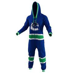 Vancouver Canucks Hockey Jersey Pajamas – Royal Blue