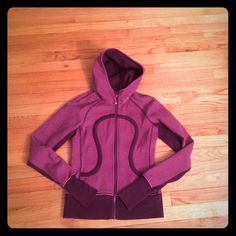 Lululemon scuba hoodie 2 Great condition only worn a handful of times, hot pink and purple scuba hoodie (pants also listed in my closet) lululemon athletica Tops Sweatshirts & Hoodies